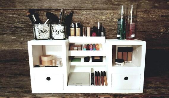 Makeup Vanity Organizer | Table Top Makeup Organizer |Teen Girl Gift |  Makeup Storage | Beauty Accessories | Gifts For Her | Makeup Artist