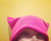 Pink Cashmere Pussy Hat /Toque / Beanie (upcycled)