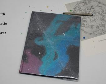Space Journal, Stars, Nebula, Galaxy, Painting, Art Journal, Black Paper