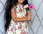 Toddler Spring Dress - Toddler Easter Dress -Summer Girl Dress - Flower Girl Dress - Whimsical Girl Dress - Princess Dress -Sweet Girl Dress