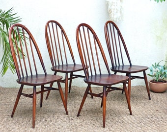 Vintage Ercol chairs model Windsor - mid century Ercol chairs