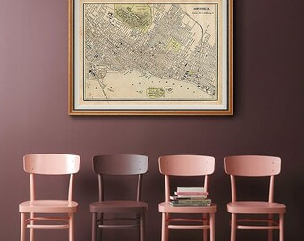 Old montreal map | Etsy