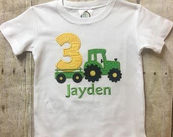 3rd Birthday Tractor Shirt, Tractor Birthday Shirt, Boy Birthday Shirt, Personalized Birthday Shirt, John Deere Birthday Shirt, Boy Birthday