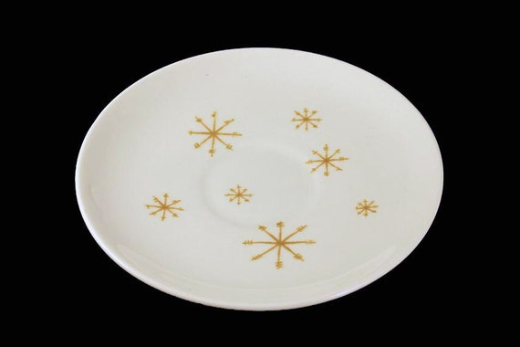 Saucer, Royal China (USA), Crystal Pattern, Gold Star Pattern, (Saucers Only No Cups)