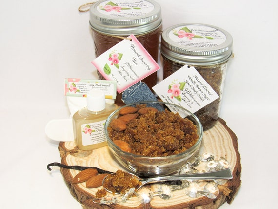 Sugaring Wax & Almond Vanilla Brown Sugar Scrub Bundle