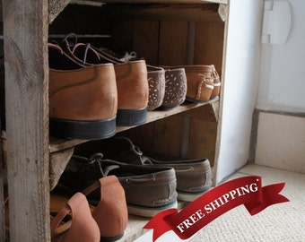 Handmade, Wooden Vintage Apple Crate Shelf - ideal for storage/display or shoe rack