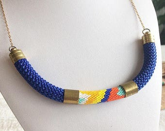 Necklace chain peyote beads