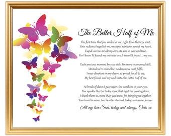Valentines Day Birthday Anniversary Personalized Poem Gift Boyfriend Girlfriend Husband Wife Fiancee Fiance Partner Love Of My Life