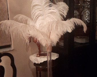 Classic Gatsby 20s Ostrich Feather Centerpiece
