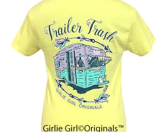 Girlie Girl Originals Trailer Trash Corn Silk Short Sleeve T-Shirt