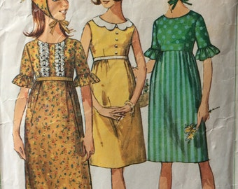 Simplicity 6467 vintage 1960's sub-teens dress & scarf sewing pattern size 10s bust 29