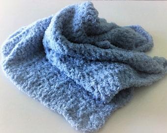 Crochet Baby Blanket, Blue Baby Blanket, Crochet Blanket, Baby Afghan, Handmade Crochet, Baby Boy Blanket, Baby Shower Gift, Baby Blanket