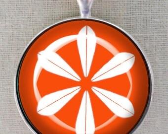 Catherine Holm Keychain ~ July Birthday ~ MCM Keychain ~ Vintage Enamelware ~Orange Catherine Holm ~ Orange Keychain ~ Retro Accessories