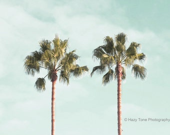 Palm Trees, Photography Print, Southern California, Wall Art, Coastal, Palm Tree Picture, Palm Tree Photo, Beach Wall Decor,  8 x 10 Print