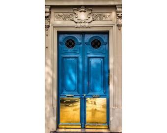 Paris Print, Blue Door, Turquoise Wall Art, Paris Picture for Home Decor, Paris Photography for Living Room, Europe Architecture Wall Art