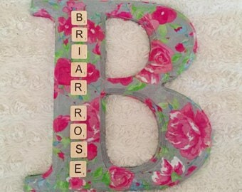 Personalised Initial Wall Hanging Nursery Decoration, Bedroom Decoration