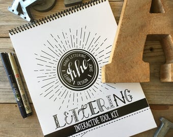 Learn Lettering Kit,  Alphabet, Beginners, Learn Hand-Lettering, Brush Lettering, Tutorial, Lettering Guide, Drills, Modern Calligraphy