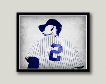 New York Yankees Derek Jeter Printable Wall Art, Sports Printables, Instant Download