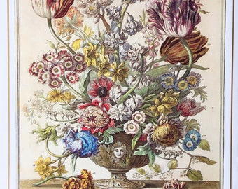 "Beautiful botanical ""April"" print - ideal for mounting and framing."