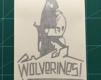 Wolverines - Red Dawn Vinyl Die Cut Decal Sticker