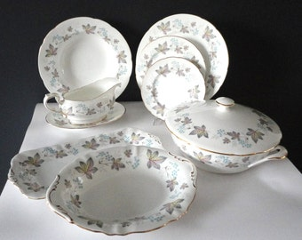 Complete Dinner Service  12 person Paragon Enchantment  English Vintage Plates Dishes Bowls Gravy dinner set dining replacement match