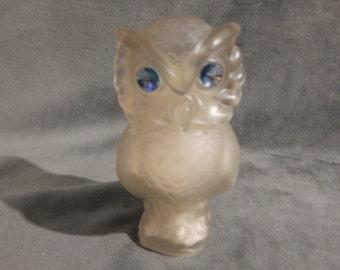 Vintage Avon 1980's Snow Owl Moonwind Powder Sachet