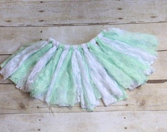 Lace Tutu, Photo Props, Scrappy Tutu, Lace Skirt, Girls Skirt, Flower Girl,