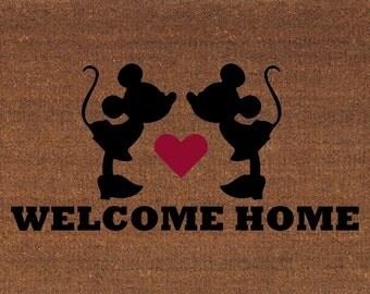 Mickey Mouse Home Sweet Home Disney Door Mat Coir Doormat