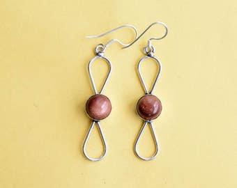 Sunstone Earring, Sunstone Stone , Stone Earring, Gift Earring, Sunstone Earring, Earring, Earrings,