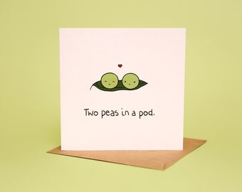 Two Peas In A Pod - Greeting card