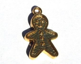 1 Pc Gold Plated Brass Teddy Bear Charm 21x13 mm Teddy Bear Charm Pendant CH23