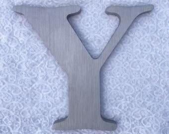 """Y 12"""" metal sign letter"""