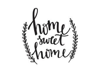 Home Sweet Home - Printable Wall Art