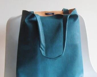 petrol Bag,Tote Bag blue, handbag,imitation leather, shopping bag, gift idea