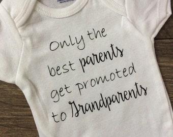 Grandparent Announcement Onesie, Pregnancy Announcement Onesie, Baby Announcement, Grandparent Announcement clothes, Pregnancy Reveal onesie