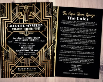 Great Gatsby Invite Etsy