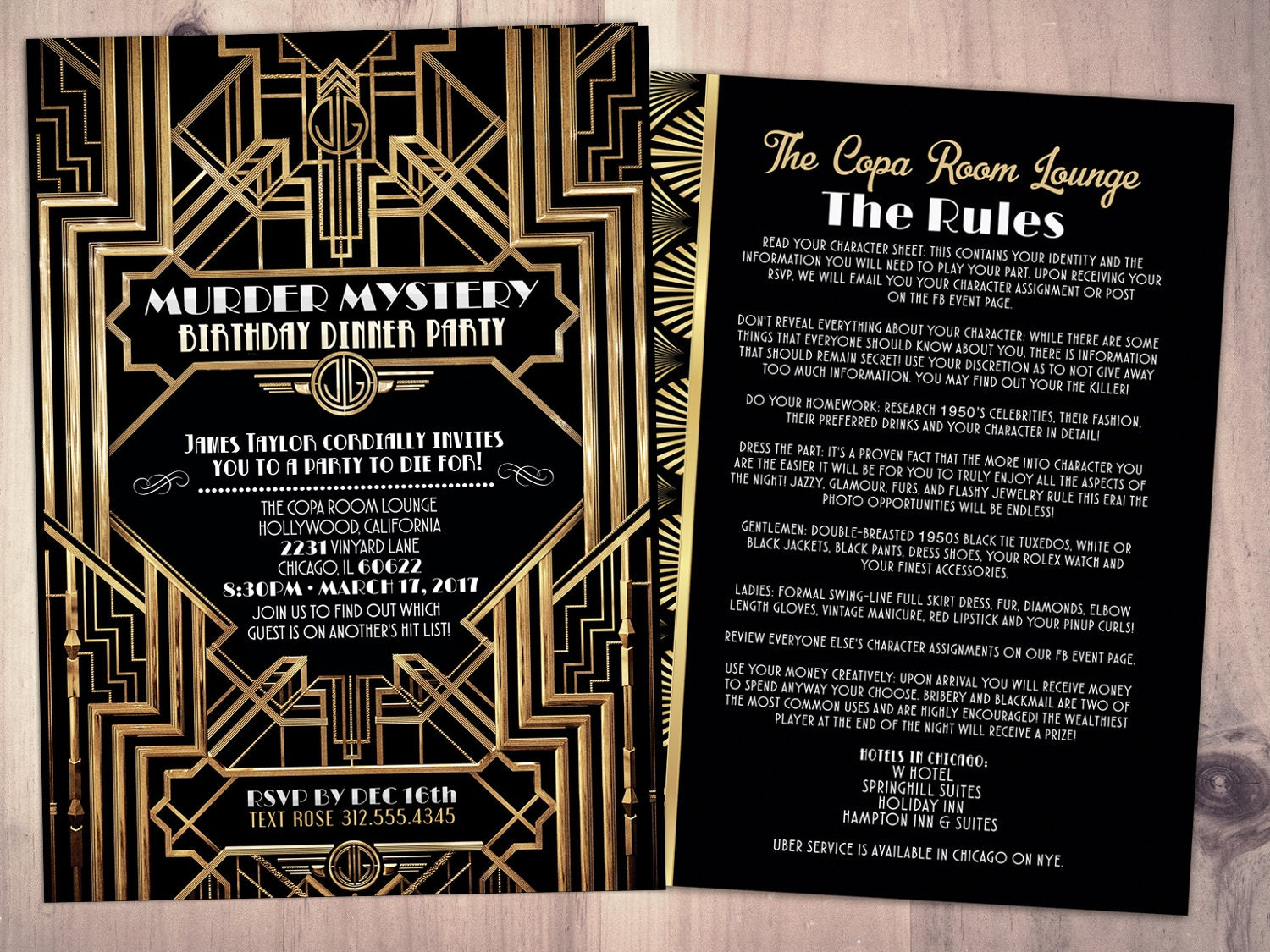 Murder Mystery Dinner Party Invitation, Vintage Party Invitation ...