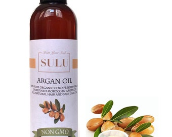 Cold pressed VIRGIN UNREFINED Moroccan Argan Oil organic 100% pure oil from 4 oz(118 ml) up to 7 lbs