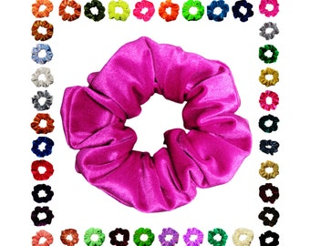 Scrunchies Velvet (Free Shipping) Ponytail Holder Hair Accessories Available in 40+ Colors Made in USA