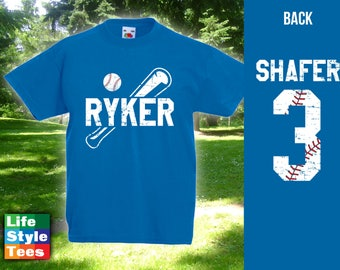 Personalized Kids Baseball Shirt, World Baseball Classic 2017, Baseball Heroes, Homerun, Etsy T-shirt, Bodysuit - Front CT-995 Back CT-996