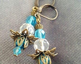 Vintage Inspired Crystal Earrings