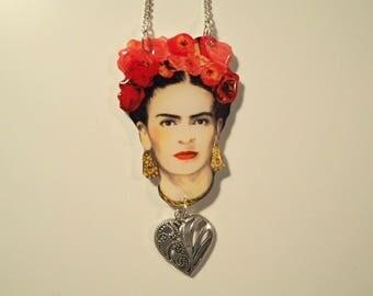 Handmade Frida Kahlo Necklace