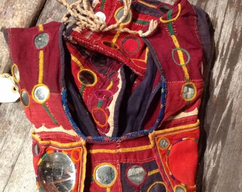 Vintage Pakistan, child hand embroidered waistcoat vest