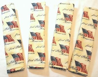 Seat Belt Cushions-Seat Belt Pads-American Flag-Seat Belt Cushion-Seat Belt Covers-Car Accessories-Truck Accessories-America