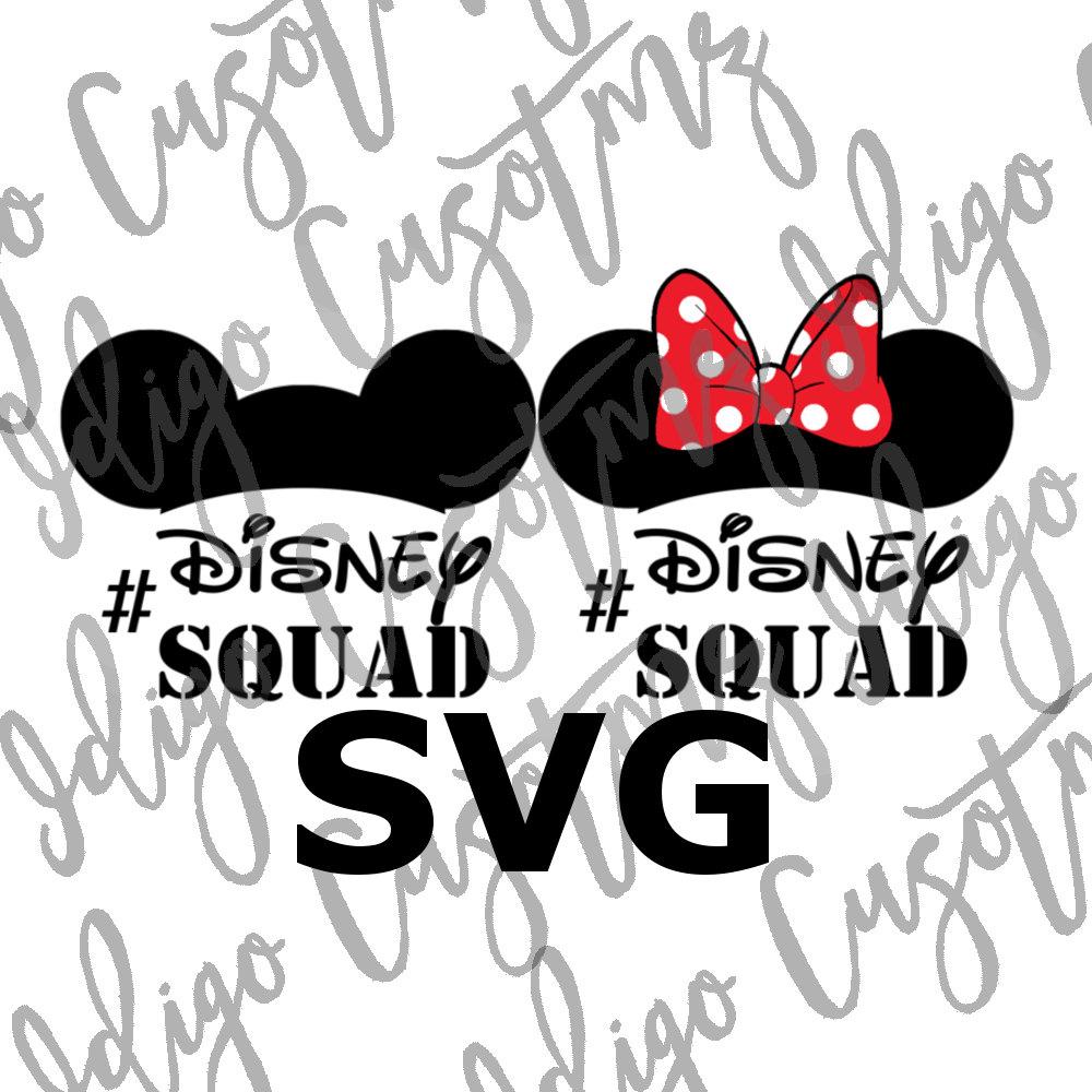 Disney Squad SVG Make Your Own Print Cut Crafts Shirts