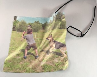 "Personalized Photo Lens Cloth - 8"" square!"