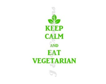 Keep Calm, Eat Vegetarian | Vegetarian Decal | Vegetarianism Decal | Keep Calm Decal