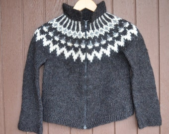 Crochet Children's Sweater,Icelandic kid sweater,Icelandic hanknit,Icelandic sweater,Crochet Kid Cardigan,6 to 8 years old,fit for boys/Girl