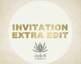 INVITATION  -  Extra edit