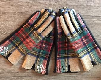 Plaid Gloves/ Touch Screen Gloves/ Monogrammed Gloves